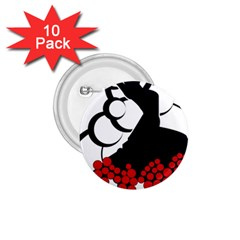 Flamenco Dancer 1 75  Buttons (10 Pack)