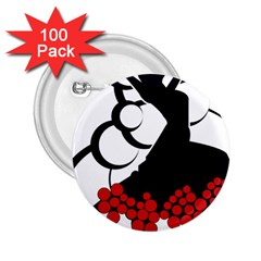 Flamenco Dancer 2 25  Buttons (100 Pack)