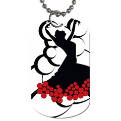 Flamenco Dancer Dog Tag (one Side)
