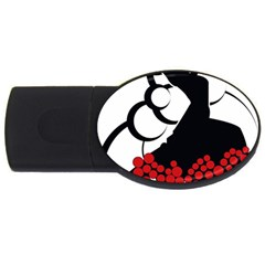 Flamenco Dancer Usb Flash Drive Oval (2 Gb)
