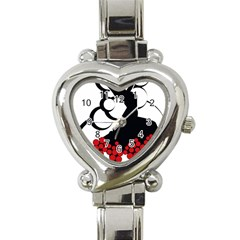 Flamenco Dancer Heart Italian Charm Watch