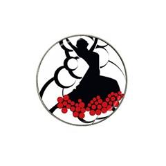 Flamenco Dancer Hat Clip Ball Marker (10 Pack)