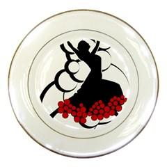 Flamenco Dancer Porcelain Plates