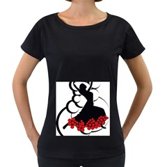Flamenco Dancer Women s Loose Fit T Shirt (black)