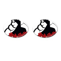 Flamenco Dancer Cufflinks (oval)
