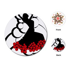 Flamenco Dancer Playing Cards (round)