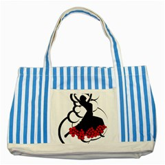 Flamenco Dancer Striped Blue Tote Bag