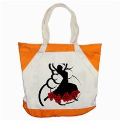 Flamenco Dancer Accent Tote Bag