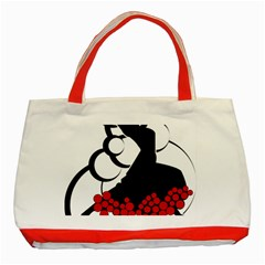 Flamenco Dancer Classic Tote Bag (red)