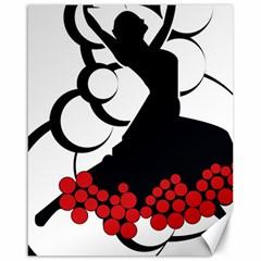 Flamenco Dancer Canvas 16  X 20