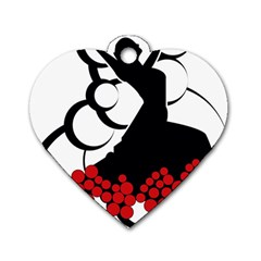 Flamenco Dancer Dog Tag Heart (two Sides)