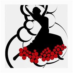 Flamenco Dancer Medium Glasses Cloth