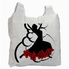 Flamenco Dancer Recycle Bag (one Side)
