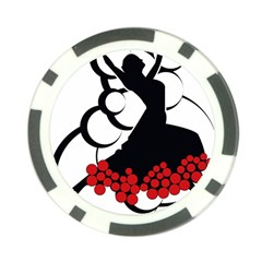 Flamenco Dancer Poker Chip Card Guard (10 Pack)