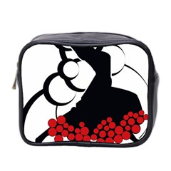 Flamenco Dancer Mini Toiletries Bag 2 Side