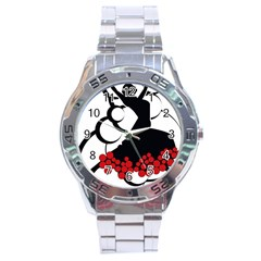 Flamenco Dancer Stainless Steel Analogue Watch