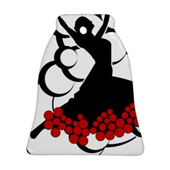 Flamenco Dancer Bell Ornament (two Sides)