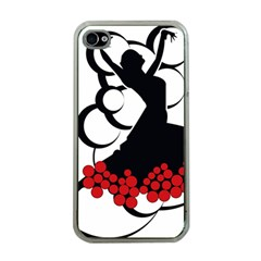 Flamenco Dancer Apple Iphone 4 Case (clear)
