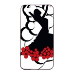Flamenco Dancer Apple iPhone 4/4s Seamless Case (Black) Front