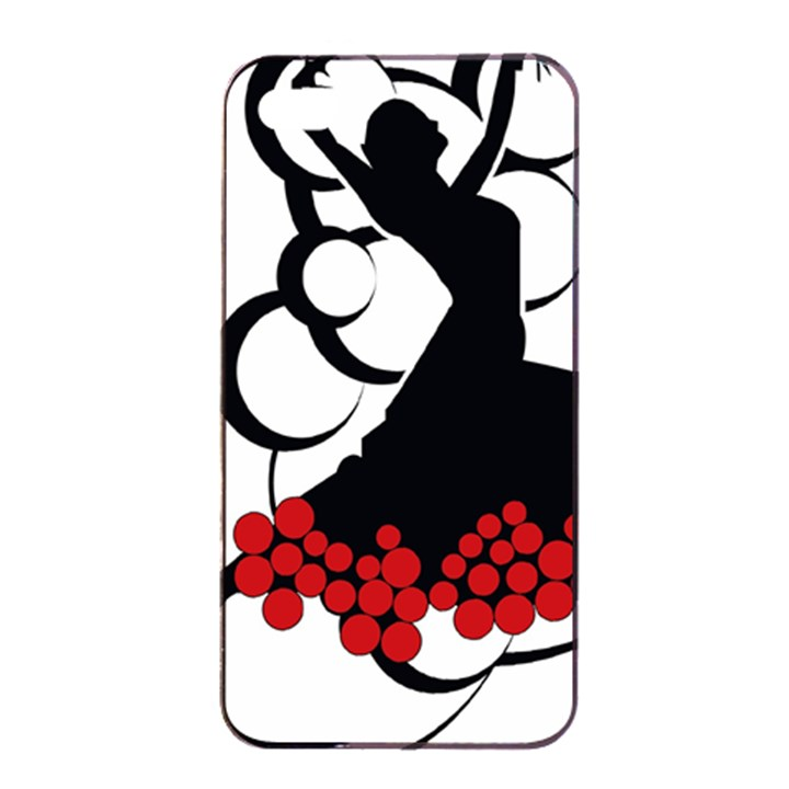 Flamenco Dancer Apple iPhone 4/4s Seamless Case (Black)