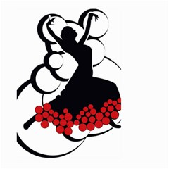 Flamenco Dancer Large Garden Flag (two Sides)