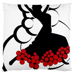 Flamenco Dancer Large Cushion Case (one Side)