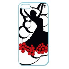 Flamenco Dancer Apple Seamless Iphone 5 Case (color)
