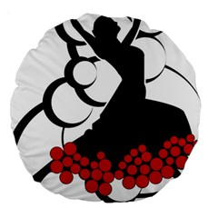 Flamenco Dancer Large 18  Premium Round Cushions