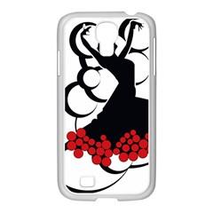Flamenco Dancer Samsung Galaxy S4 I9500/ I9505 Case (white)