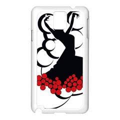 Flamenco Dancer Samsung Galaxy Note 3 N9005 Case (white)