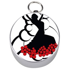 Flamenco Dancer Silver Compasses