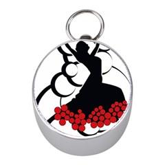 Flamenco Dancer Mini Silver Compasses
