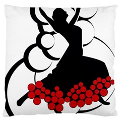 Flamenco Dancer Large Flano Cushion Case (one Side)