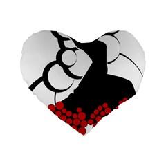 Flamenco Dancer Standard 16  Premium Flano Heart Shape Cushions