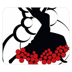 Flamenco Dancer Double Sided Flano Blanket (small)
