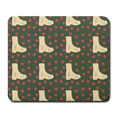 Green Boot Large Mousepads