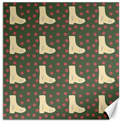 Green Boot Canvas 20  X 20