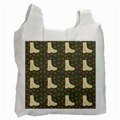 Green Boot Recycle Bag (one Side)
