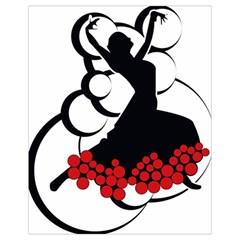 Flamenco Dancer Drawstring Bag (small)