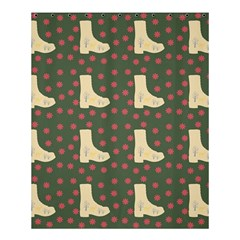 Green Boot Shower Curtain 60  X 72  (medium)
