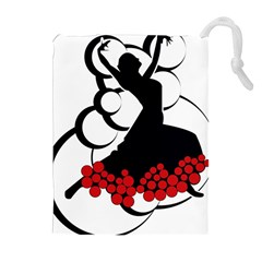 Flamenco Dancer Drawstring Pouches (extra Large)