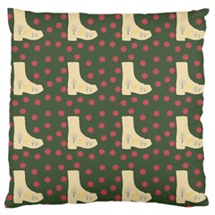Green Boot Large Cushion Case (one Side)