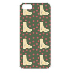 Green Boot Apple Iphone 5 Seamless Case (white)