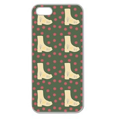 Green Boot Apple Seamless Iphone 5 Case (clear)