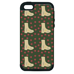 Green Boot Apple Iphone 5 Hardshell Case (pc+silicone)