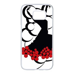 Flamenco Dancer Samsung Galaxy S7 Edge White Seamless Case