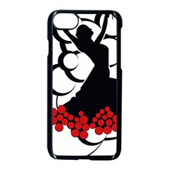 Flamenco Dancer Apple Iphone 8 Seamless Case (black)