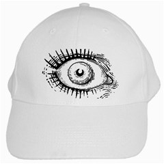 Big Eye Monster White Cap