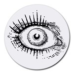 Big Eye Monster Round Mousepads Front