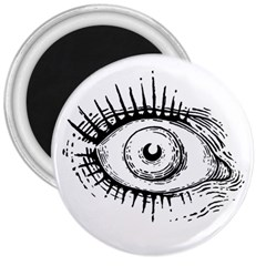 Big Eye Monster 3  Magnets